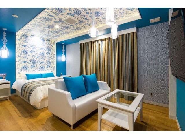 401/302 302号室 ブルー系でまとまったASIAN Room