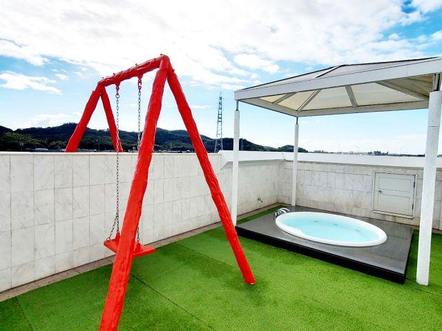 405号室/504露天風呂 遊び心をくすぐる露天風呂